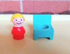 Vintage Fisher Price Hospital Turquoise Chair And Red Girl