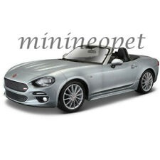 BBURAGO 18-21083 FIAT 124 SPIDER COUPE 1/24 DIECAST MODEL CAR GREY