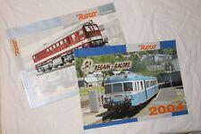 2 Catalogues ROCO: News 2004+Regain Galore 2004 Limoges Lyon Vaise X2800 RGP