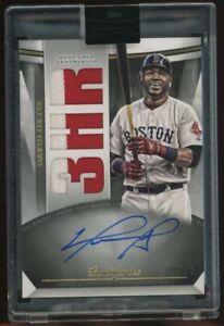 2021 Topps Luminaries David Ortiz Boston Red Sox GU 2-Color Patch AUTO /15