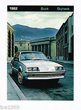 1982 Buick SKYHAWK Brochure / Catalog / Pamphlet