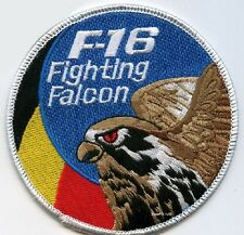 FIGHTING FALCON F-16 JET FIGHTER SWIRL PATCH COLLECTIONS: Belgian Air Force BAF