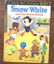 Walt Disney's SNOW WHITE and the SEVEN DWARFS Big Golden Book
