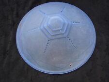 Lustre suspension vasque verre bleu signée C S R France d'époque Art Déco