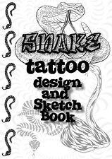 Serpiente tatuaje diseño y bosquejo Libro. todos Y Dibujos! gran Colección!