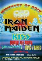 Iron Maiden-Monsters Of Rock Donington Park UK August 20th 1988 concert poster