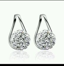 silver crystal earring  925 wedding bride birthday prom christmas  392