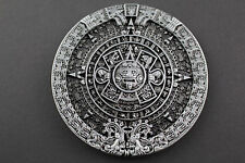 GREY AZTEC CALENDAR BELT BUCKLE MAYAN MEXICO METAL TRIBAL