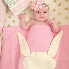 Kids Baby Soft Bunny Knitted Bath Cover Blanket Knitting Rabbit Bedding Towels