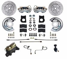 67 68 69  Mustang Falcon Cross Drilled  Disc Brake Conversion Kit  Manual Brakes