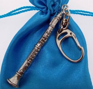 Clarinet - Quality Chunky 3D Silver Pewter Keyring