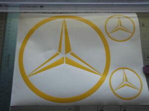 MERCEDES logo  large sticker   X4 PIECE