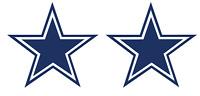 "2 UNITS Dallas Cowboys Star 5"" Vinyl Car Truck DECAL Window Sticker Blue  Pair"