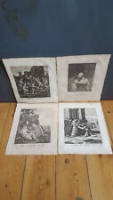 The Life of Christ x4 Antique Engravings, 1811 - Prodigal's Return, Good Samarit