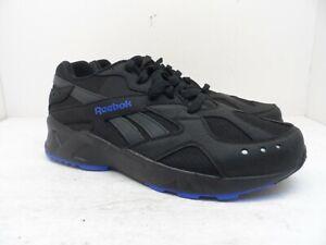 Reebok Men's AZTREK Athletc Casual Shoes DV3913 Black/Blue 12M