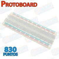 Protoboard MB-102 830 puntos enlazable con lineas - Blanca - Arduino Electronica