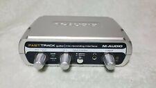 Excelente condición M-audio Fast Track-interfaz Usb Para Guitarra Y Micrófono