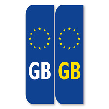 GB Euro Number Plate Stickers for cars on European roads DVLA 40mm Reflective