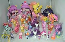HUGE lot of My Little Pony Lot of 32 Ponies + accessories carriage and playhouse