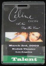 Celine Dion Original New Day Has Come 2002 Laminate Backstage Pass L.A. Talent
