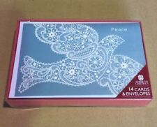 American Greetings Christmas Cards Formal Lace Dove 14ct