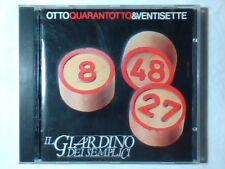 GIARDINO DEI SEMPLICI Otto quarantotto e ventisette cd 8 48 27 CERVELLO