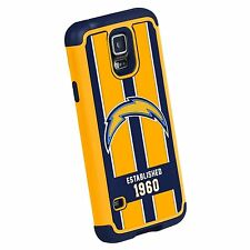 NFL Los Angeles Chargers Dual Hybrid 2-Piece TPU Case for Samsung Galaxy S5
