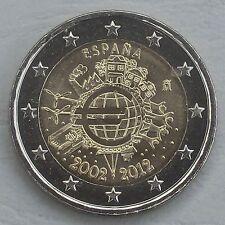 2 Euro Spanien 2012 10 Jahre Euro unz