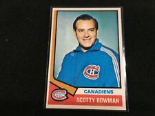 Scotty Bowman Coach 1974-75 Topps #261 Rookie Card See Pic for Condition