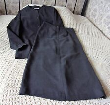 Versatile smart grey two piece outfit suit by WINDSMOOR Skirt & jacket Size 12