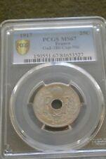 MS 67 FDC  pcgs   exeptionnel 25 centimes 1917  nec plus ultra non circulè