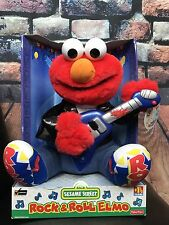 Rock and Roll Elmo 1998 Sesame Street Plays & Sings 2 classic Tunes Tested