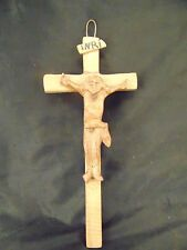Wood crucifix hand carved Christianity symbol religious spirituality Jesus cross