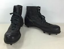 Vintage Wilson Black Leather Football Shoes Cleats High-Top Mid-Century 50s 60s