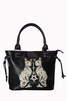 Black Gothic Rockabilly Punk Kitty Pentagram Esoteric Cat Bag Banned Apparel