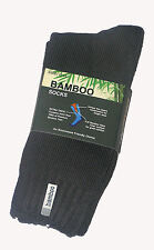 3 PRS MENS SZ 6-11 GREY 92% BAMBOO CUSHION FOOT EXTRA THICK WORK/HIKING SOCKS