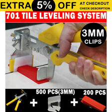 Tile Leveling System 500 3mm Clips+200 Wedges+1 Plier Floor Tiling Spacer Kit