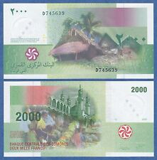 Comoros 2000 Francs P 17 2005 UNC  Low Shipping! Combine FREE! Comores