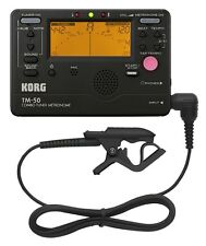 Korg TM50BK Tuner and Metronome Combo with Contact Microphone