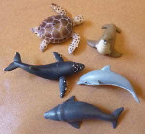 AUSTRALIAN ANIMAL SEALIFE MARINE LIFE COLLECTION 5 Different REPLICA SEAL WHALE