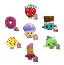 "Shopkins 6"" Deluxe Plush Toy Figure Set of 7 Official Product + Stickers Gift"