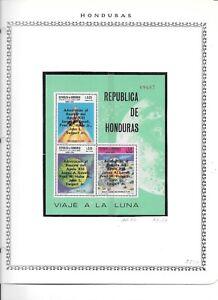 HONDURAS. 1970. SPACE. APOLLO 13 RETURN. NEVER HINGED MINT 2 MINI-SHEETS. 2 SCAN