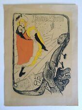 RARE VTG 1940'S TOULOUSE LAUTREC ORIGINAL SILKSCREEN PRINT JARDIN DE PARIS 1893