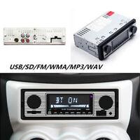 Auto Stereo FM Retro Radio 12V Player Bluetooth Stereo MP3 USB AUX WAV FM Parts