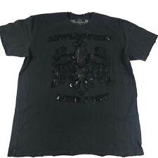 Affliction Mens Black Short Sleeve Eagle Live Fast Distressed T Shirt Size 3XL