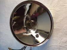 AUSTIN SEVEN 7  HEADLIGHT REFLECTOR UNIT. 6 1/2 INCH DIAMETER. WITH PILOT BULB.