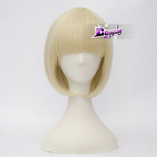 Spider Gwen Light Blonde 14'' Short Bob with Bangs Anime Halloween Cosplay Wig