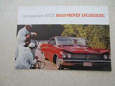 Original 1960 Buick cars road proven engineering advertising brochure