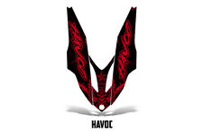 Yamaha APEX XTX Hood Decal Wrap Graphic Kit Part Sled Snowmobile 06-11 HAVOC RED