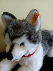 Steiff bears - Husky dog large- unboxed, no certificate